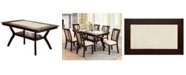 Furniture of America Maltby Solid Wood Dining Table