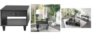 Furniture of America Tamila Open Shelf End Table