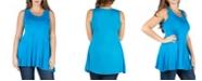 24seven Comfort Apparel Women's Plus Size Sleeveless Tunic Tank Top