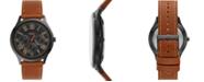 Fossil Men's Pierce Brown Leather Strap Watch 44mm