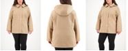 Jones New York Plus Size Hooded Water-Resistant Quilted Coat