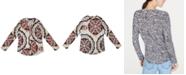 INC International Concepts INC Petite Cheetah-Print Zip-Pocket Top, Created for Macy's