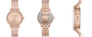 Michael Kors Women's Melissa Three-Hand Rose Gold-Tone Stainless Steel Bracelet Watch 36mm