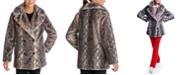 BCBGeneration Snake-Embossed Faux-Fur Coat