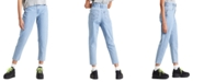 Levi's High-Rise Paperbag-Waist Tapered Cotton Jeans