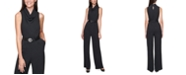 Calvin Klein Plus Size Cowlneck Belted Jumpsuit