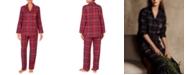 Lauren Ralph Lauren Brushed Twill Plaid Pajamas Set
