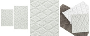 Vera Wang Tufted Diamond Reversible Bath Rug, Set of 2