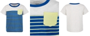 First Impressions Baby Boys Stripe Pieced Pocket T-Shirt, Created for Macy's