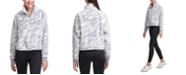 Calvin Klein Animal-Print Half-Zip Top