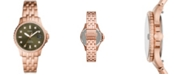 Fossil Women's FB-01 Rose Gold-Tone Bracelet Watch 36mm