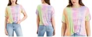 Self Esteem Juniors' Tie-Dyed Front-Knot T-Shirt