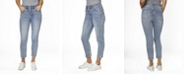 ZOE by Zoe + Phoebe Juniors' Super High Rise Exposed Button MOM Jeans