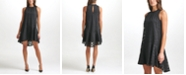 Tommy Hilfiger Mock Neck Sleeveless A-Line Dress