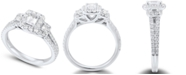 Macy's Diamond Emerald-Cut Engagement Ring (1 ct. t.w.) in 14k White Gold