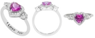 Macy's Women's Heart 'I Love You' Message Ring in Sterling Silver