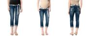 WallFlower Maternity Secret Fit Belly® Belt Boyfriend Jeans, Medium Wash