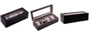 Bey-Berk Cherry Wood Four-Watch Box