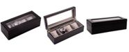 Bey-Berk Cherry Wood Four-Watch Box