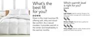 Calvin Klein Light Warmth Down King Comforter, Premium White Down Fill, 100% Cotton Cover