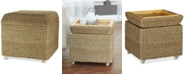 Household Essentials Square Storage Seat with Lid & Rollers