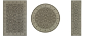 JHB Design Tidewater Floral Sarouk Grey/Ivory Area Rugs