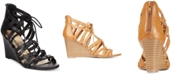 American Rag Kyle Lace-Up Demi Wedge Sandals, Created for Macy's