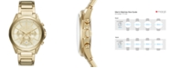 A|X Armani Exchange Men's Gold-Tone Stainless Steel Bracelet Watch 44mm AX2602