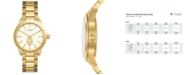 Tory Burch Women's Collins Gold-Tone Stainless Steel Bracelet Watch 38mm