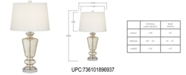 Kathy Ireland Pacific Coast Silver Mercury Glass Table Lamp