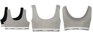 Calvin Klein 2-Pack Bralettes, Little Girls & Big Girls