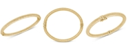 Italian Gold Textured Bangle Bracelet in 14k Gold