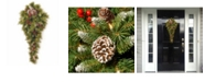"""National Tree Company National Tree 36"""" Frosted Berry Teardrop with Battery Operated Warm White LED Lights"""