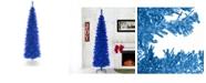 National Tree Company National Tree 6 ft. Blue Tinsel Tree