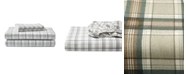 Eddie Bauer King Plaid Flannel Sheet Set