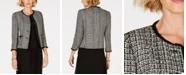 Anne Klein Fringe-Trim Tweed Jacket