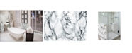 Brewster Home Fashions Grey And Black Marble Adhesive Film Set Of 2