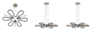 ELK Lighting Continuum 3 Light Chandelier in Silvered Graphite with Polished Nickel Accents