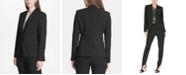 DKNY Collarless One-Button Blazer