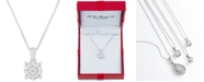 """Macy's Diamond Halo 18"""" Pendant Necklace (1/3 ct. t.w.) in 14k White, Yellow or Rose Gold"""