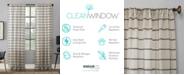 """Clean Window Twill Stripe Anti-Dust Curtain Panel, 52"""" x 63"""""""