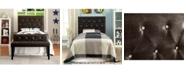Furniture of America Chasidy Twin Faux Leather Headboard