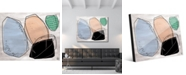 "Creative Gallery Black Rock Abstract 24"" x 36"" Acrylic Wall Art Print"