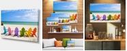 "Design Art Designart Adirondack Beach Chairs Seashore Photo Canvas Art Print - 32"" X 16"""