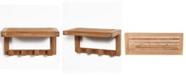 A.R.B Teak & Specialties ARB Teak Wall Shelf with 4 Hooks