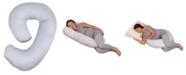 Leachco Snoogle Mini Chic Supreme Maternity/Pregnancy Compact Side Sleeper