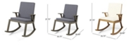 Noble House Champlain Outdoor Rocking Chair