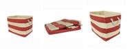 Design Imports Design Import Paper Basket Stripe, Rectangle