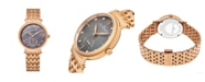 Stuhrling Alexander Watch A201B-04, Ladies Quartz Small-Second Watch with Rose Gold Tone Stainless Steel Case on Rose Gold Tone Stainless Steel Bracelet