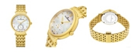 Stuhrling Alexander Watch AD201B-02, Ladies Quartz Small-Second Watch with Yellow Gold Tone Stainless Steel Case on Yellow Gold Tone Stainless Steel Bracelet